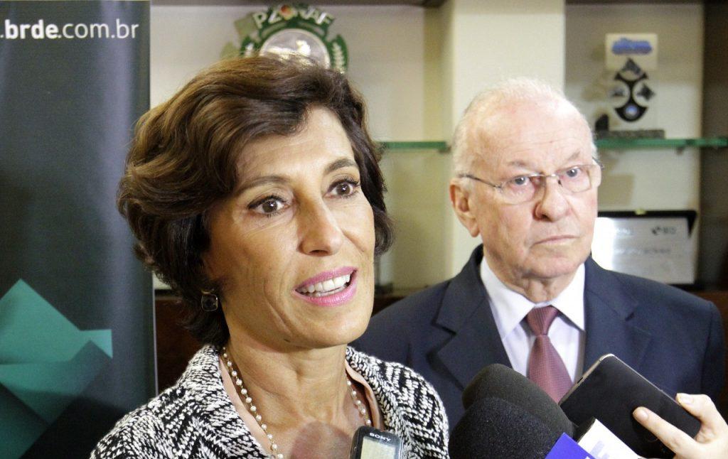 Dados integraram pauta de reunião fechada entre a presidente do BNDES, Maria Silvia Bastos Marques, e o presidente do BRDE, Odacir Klein, na tarde desta segunda-feira, em Porto Alegre. FOTOS DE AFONSO LICKS