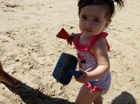 Sophia Araujo Teixeira,  1,3 anos. Pais: Alexandre e Renata, de Charqueadas/RS