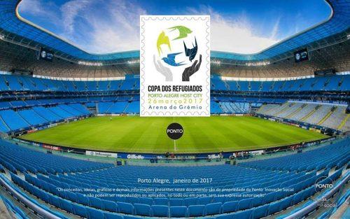 O banner especial da Copa dos Refugiados. (Foto: Reprodução)