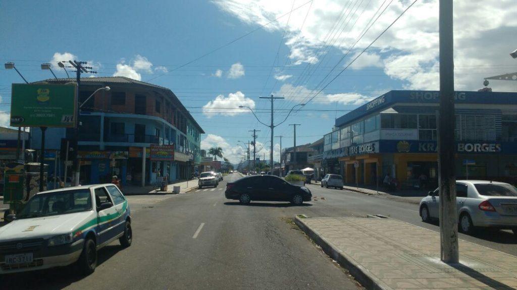 Centrinho de Atlândida, onde houve briga generalizada na madrugada deste domingo. (Foto: BM/Divulgação)