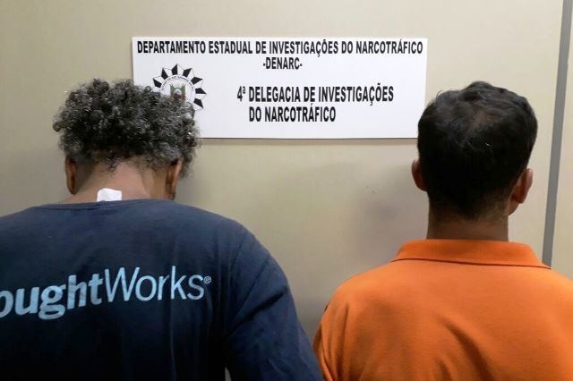 Garçom e comparsa vendiam cocaína (Foto: Polícia Civil/Divulgação)