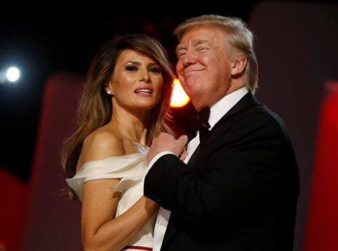 Melania e o presidente dos Estados Unidos, Donald Trump. (Foto: Reprodução)