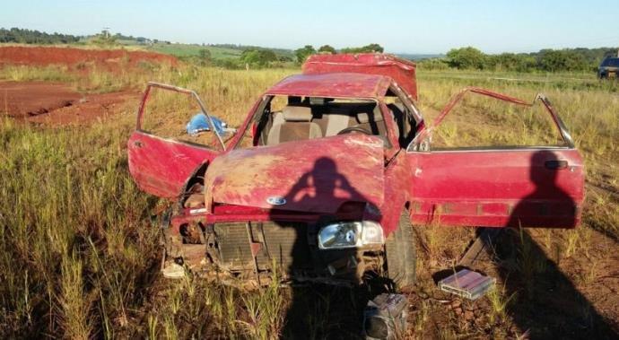 Vítima era passageira do carro (Foto: PRF/Divulgação)