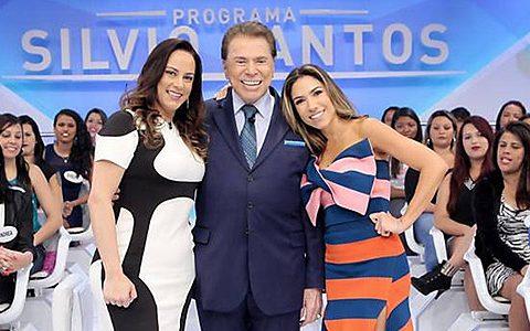 Silvio Santos entre as filhas Silvia e Patrícia. (Foto: Divulgação)