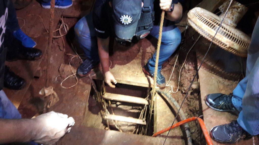 A investigação durava quatro meses e cerca de 50 metros de túnel já havia sido construídos. Sete pessoas foram presas (Foto: Polícia Civil/Divulgação)