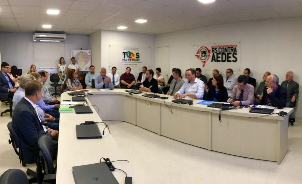Reuniões se desenrolaram durante todo o dia para apresentar uma proposta para a quitação de débitos que totalizam R$ 190 milhões. (Foto: SES/Divulgação)