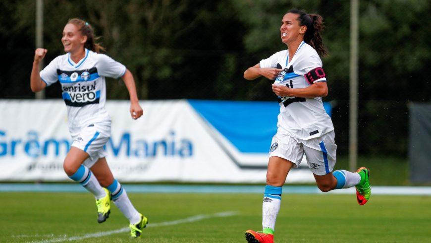 Com emoção  Grêmio estreia no Campeonato Brasileiro Feminino com vitória  nos acréscimos 9f6b451ccafb9