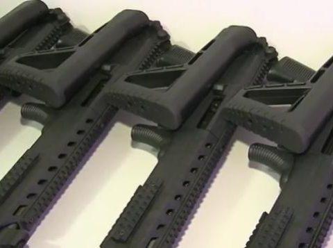 Cinco fuzis calibres 556 e uma metralhadora devem ser usados na segurança de quatro municípios da região, diz PM. (Foto: Reprodução)