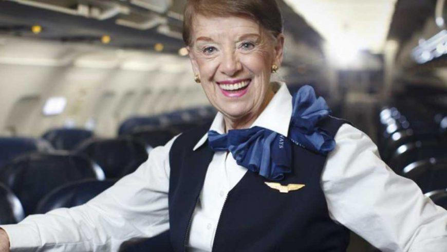 [Internacional] Comissária de bordo mais velha do mundo completa 60 anos de carreira Bettenash_0-870x490