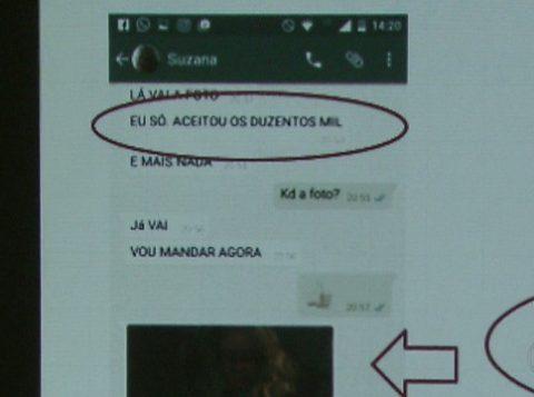 Suposto sequestrador enviou ameaças e foto da mulher. (Foto: Reprodução)