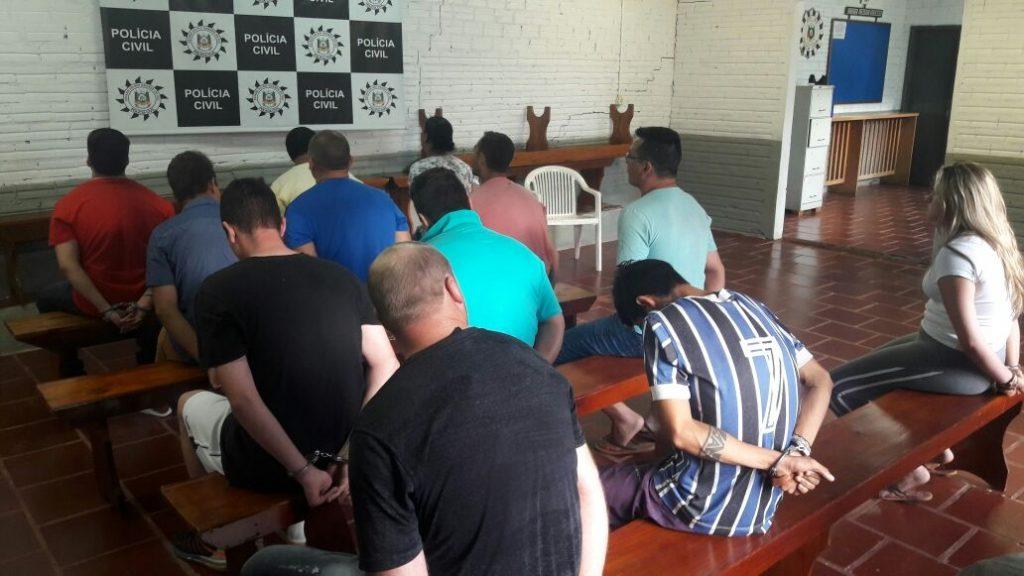 Dezoito criminosos foram presos (Foto: Polícia Civil/Divulgação)