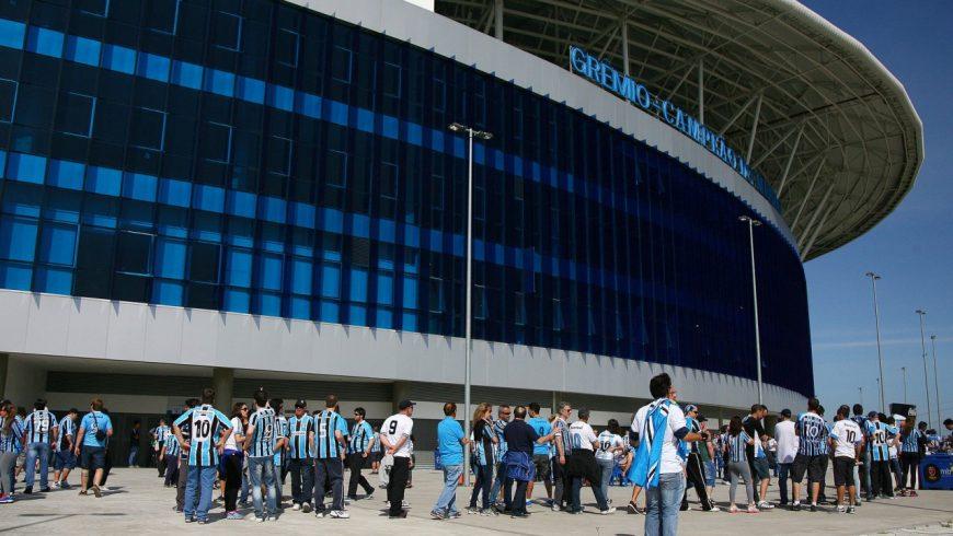 Tricolor entra em campo contra o Veranópolis. (Foto: Lucas Uebel/Grêmio)