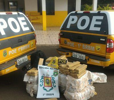 Cinco bandidos foram presos (Foto: CRBM/Divulgação)