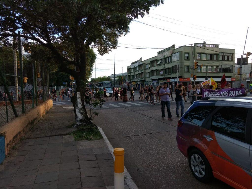Manifestação causa transtornos no trânsito na chegada à Capital e na área central da cidade (Foto: EPTC/Divulgação)