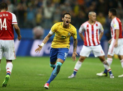 Neymar deu show e marcou seu primeiro gol contra o Paraguai. (Foto: Lucas Figueiredo/CBF)
