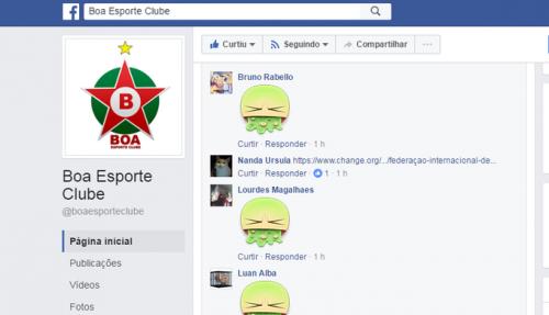 Usuários protestam na página oficial do Boa Esporte (Foto: Reprodução Facebook)