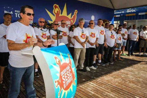 Presidente do Sistema Fecomércio, Luiz Carlos Bohn, participou da abertura do evento. Crédito: Marcos Nagelstein