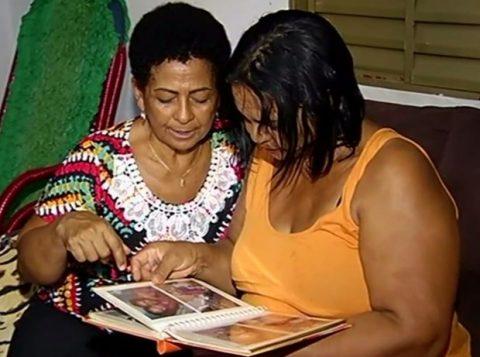 Ivanilda Pereira Marques se reencontra com a família em Itumbiara. (Foto: Reprodução)