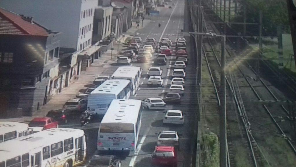 Motoristas do aplicativo protestam contra violência. (Foto: EPTC/Divulgação)