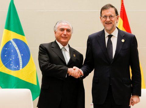 Michel Temer recebeu o primeiro-ministro da Espanha, Mariano Rajoy, e discutiram ações conjuntas (Foto: AGBr)