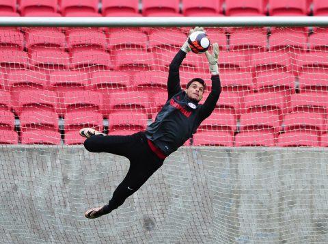 Herói contra o Caxias, o jovem Keiller é o único goleiro disponível no elenco colorado. (Foto:  Ricardo Duarte/Internacional)