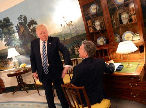Macri foi recebido pelo Presidente dos Estados Unidos, ele realizou uma reunião a sós com Donald Trump na Casa Branca. (Foto: Divulgação Casa Rosada)