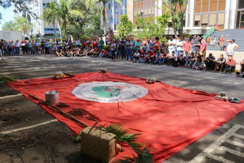 Abril Vermelho: manifestações estão em processo em Porto Alegre (Foto: Divulgação/MST/RS)
