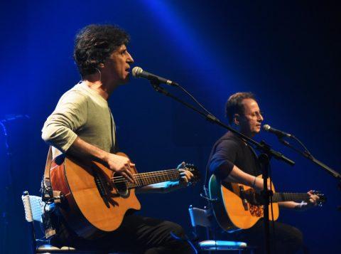 Projeto Letra & Música culminou com o show de Kleiton & Kledir e a apresentação da canção criada coletivamente  (Foto: Gelsoli Casagrande)