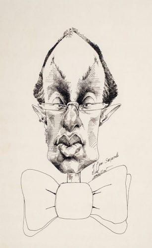 Caricatura de Paulo Gasparotto, 1980, Michel Drouillon (Foto: Divulgação)
