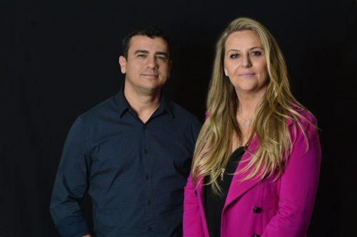 Paulo Pedroso e Flavia Sffair  no comando do evento. Foto Eduardo Liotti.