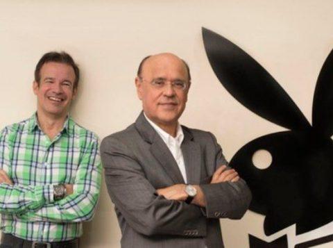 André Sanseverino e Marcos Aurélio de Abreu, sócios da revista Playboy, são acusados de assédio sexual (Foto: Reprodução/Facebook)