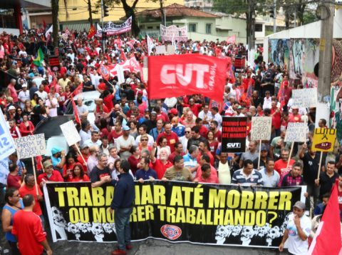 A lista de entidades que prometem fazer parte do movimento deve crescer até o final da semana (Foto: CUT/Divulgação)
