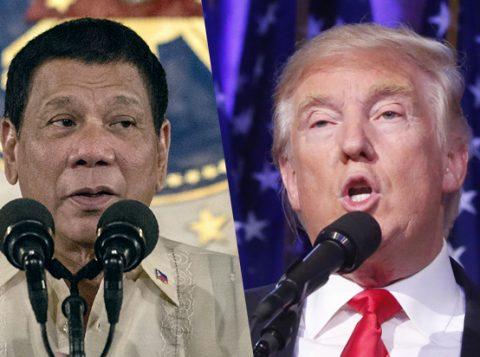 Rodrigo Duterte (E) e Donald Trump (Foto: AFP/Getty Images)