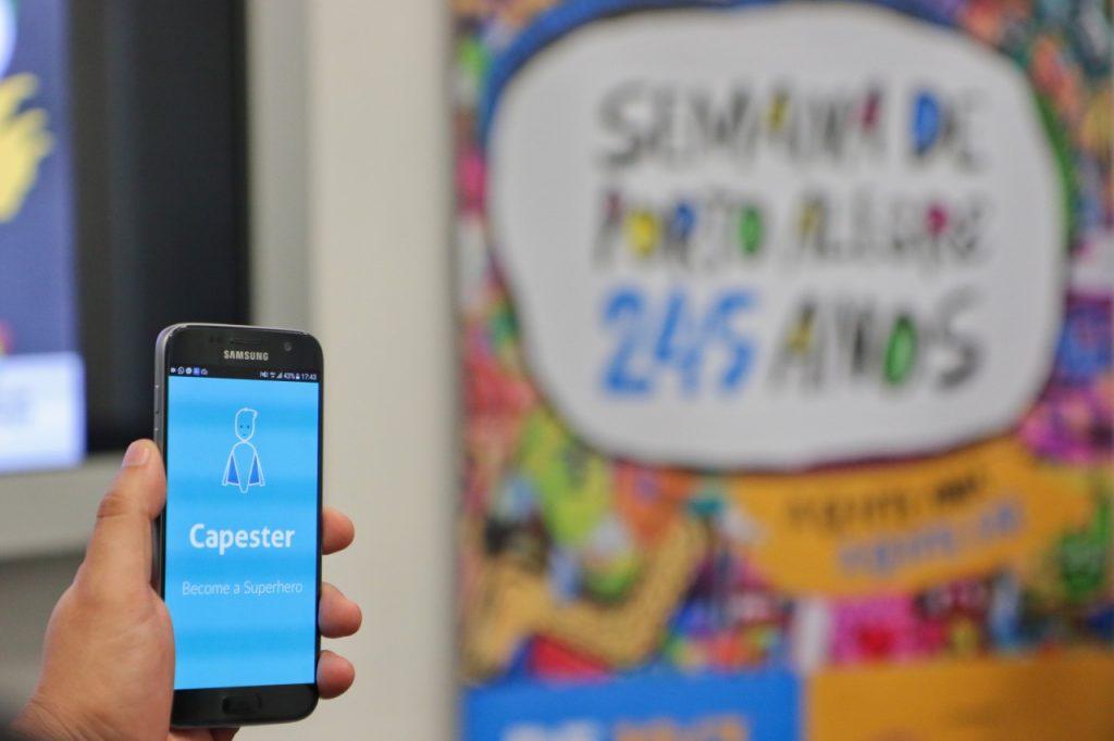 Capester já teve mais de 4 mil downloads e está disponível nas plataformas iOS e Android (Foto: Joel Vargas/PMPA)