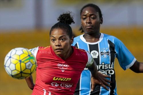 Time feminino do Grêmio acabou derrotado no último minuto de jogo. (Foto  Leandro  Martins AllSports) a50909c42cdcd