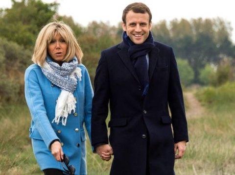 Emmanuel Macron, 39 anos, e Brigitte, 64: ex-professora é um dos principais nomes da campanha da centrista (Foto: Reuters)