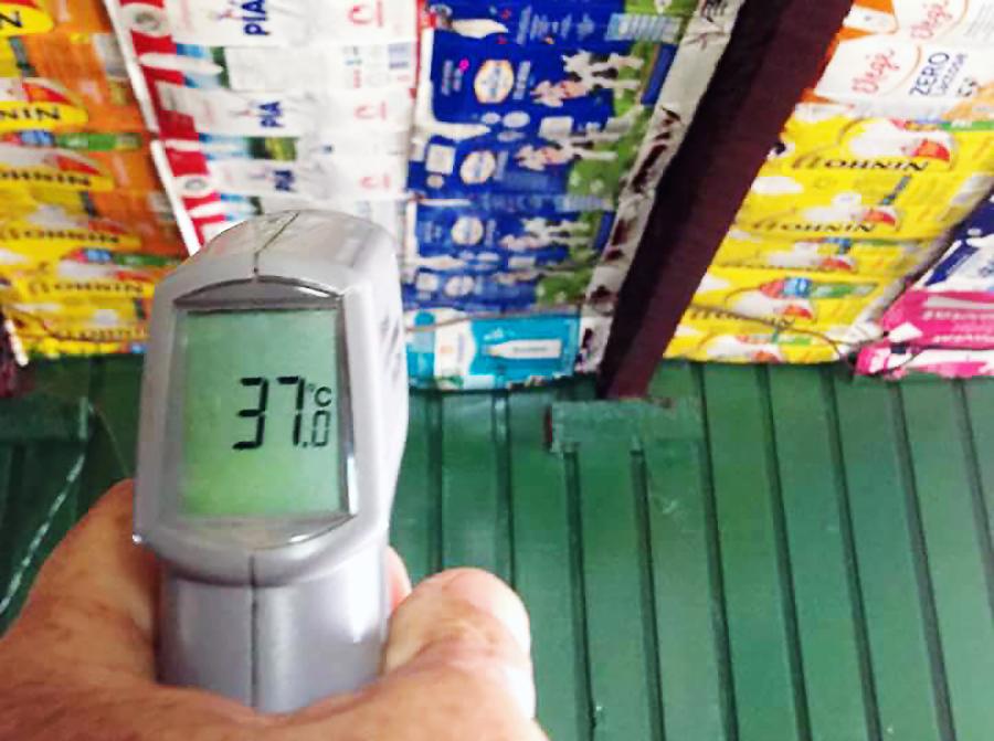 A medição das temperaturas mostra a real funcionalidade das mantas (Foto: Uergs/Divulgação)