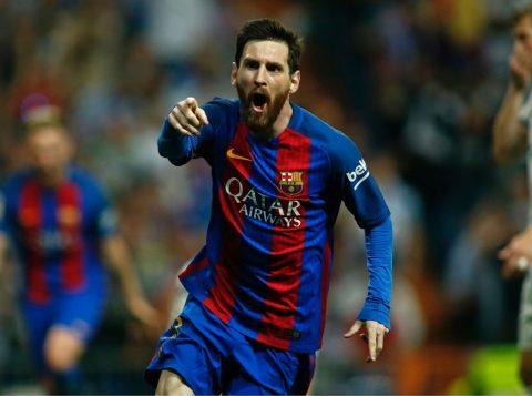 Messi marcou seu gol de número 500 pelo Barça. (Foto: Reprodução)
