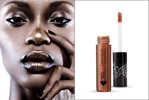 Cobre e dourado têm glamour extra na pele negra Reprodução (Foto: Reprodução)