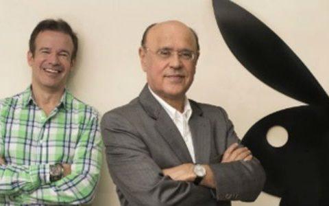 """Os sócios da """"Playboy"""" André Sanseverino e Marcos de Abreu. Ambos negam as acusações. (Foto: Reprodução)"""