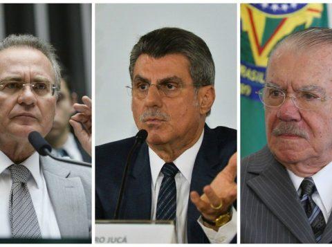 Renan Calheiros, Romero Jucá e José Sarney. (Foto: Reprodução)