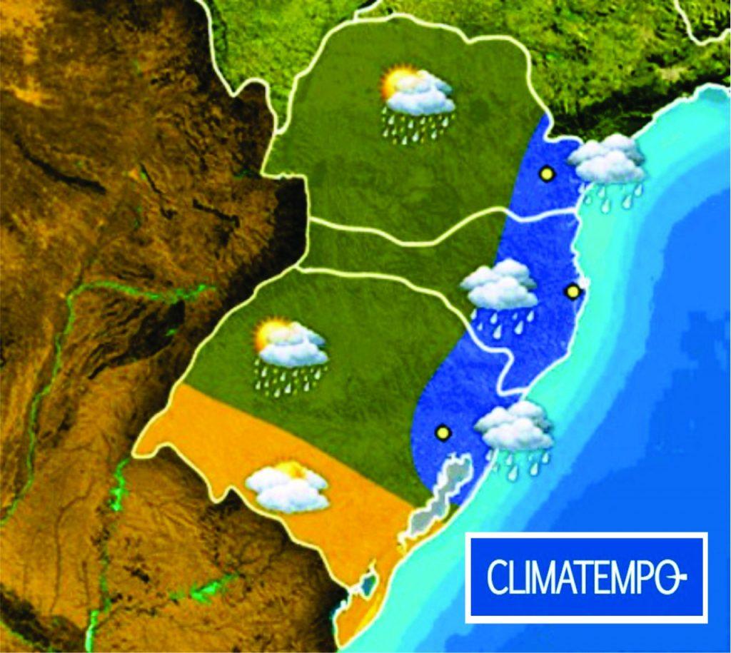 Parte do RS terá chuva na sexta (Foto: Arte/Climatempo/Divulgação)
