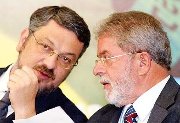 Resultado de imagem para imagens de Palocci e Lula