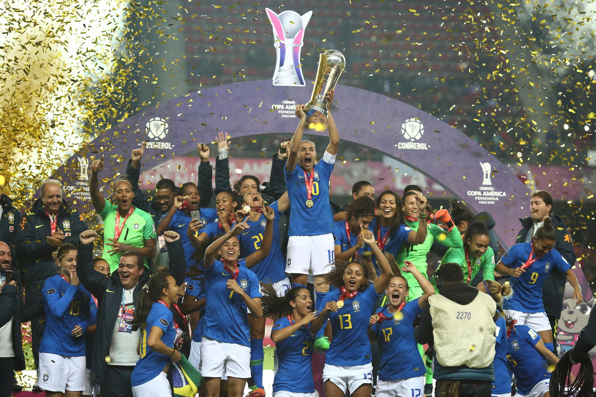 5960045c09 O Brasil conquistou o heptacampeonato da Copa América de futebol feminino. Seleção  Brasileira ...