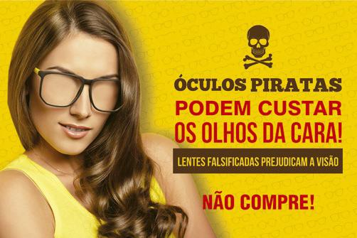 Campanha em Porto Alegre alerta para os problemas com o uso de óculos  falsificado 5152a19823