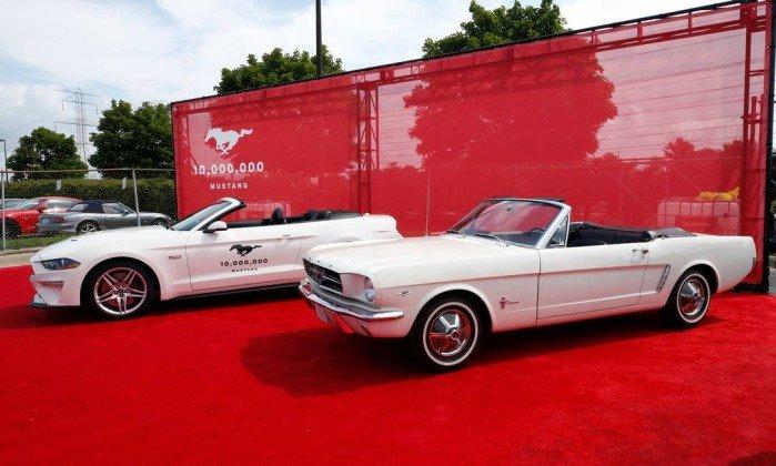 A Ford comemora a produção de 10 milhões de Mustangs