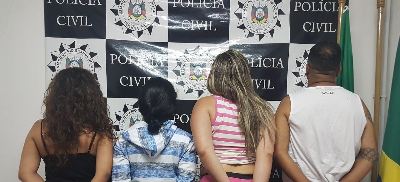 Presa quadrilha que usava criança para praticar furtos em lojas no litoral  gaúcho 4c4c009b669
