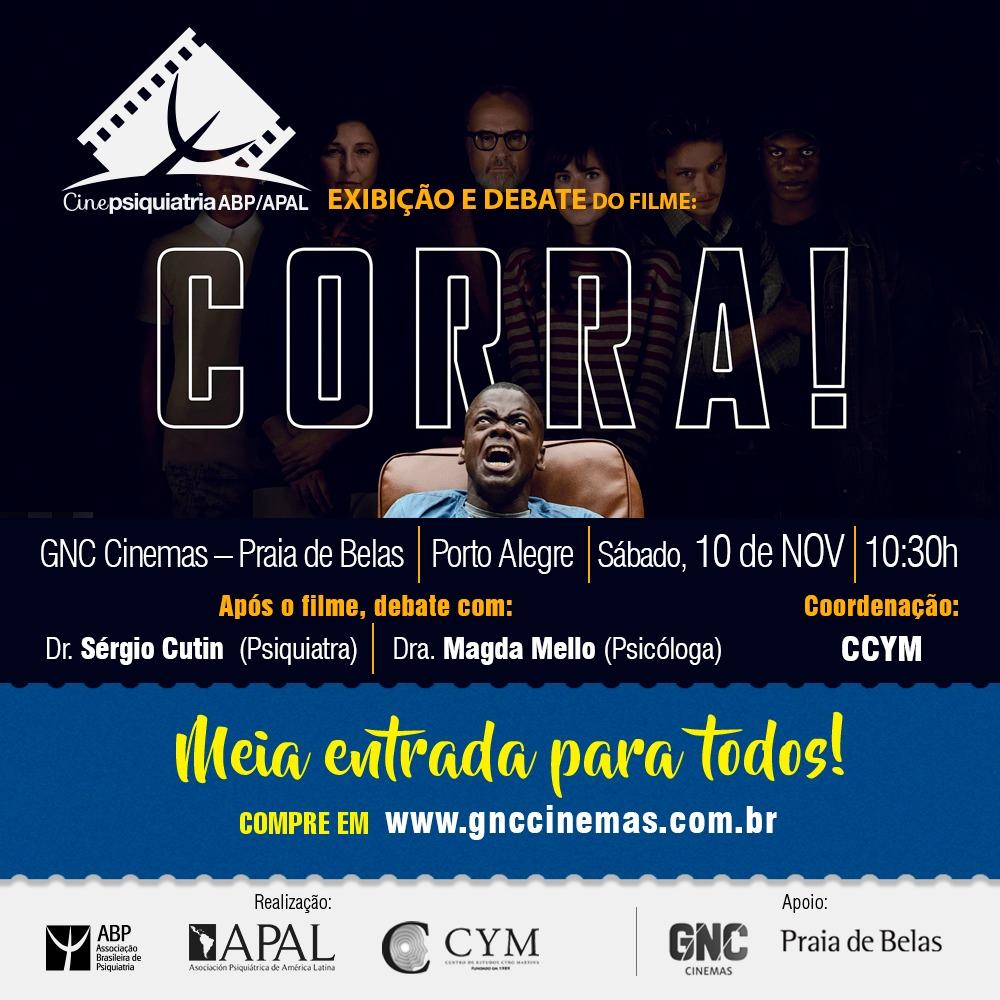 bd636268f3a80 Filme  Corra!  é tema de debate no 19º CinePsiquiatria. Evento acontece no  sábado (10)