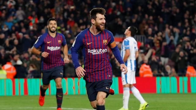 933b33a6a8975 Messi joga apenas meia hora e garante a vitória do Barcelona sobre o  Leganés por 3 a 1 no Campeonato Espanhol