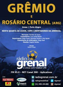 Cobertura Grêmio x Rosário Central, pela Rádio Grenal.